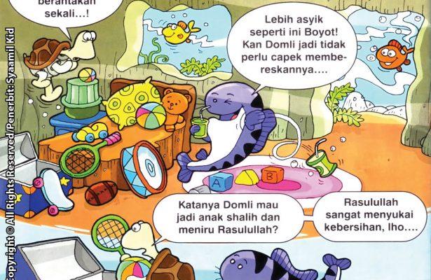 Download ebook Seri Balita Shalih, Menyayangi Rasulullah, Rasulullah Selalu Menjaga Kebersihan