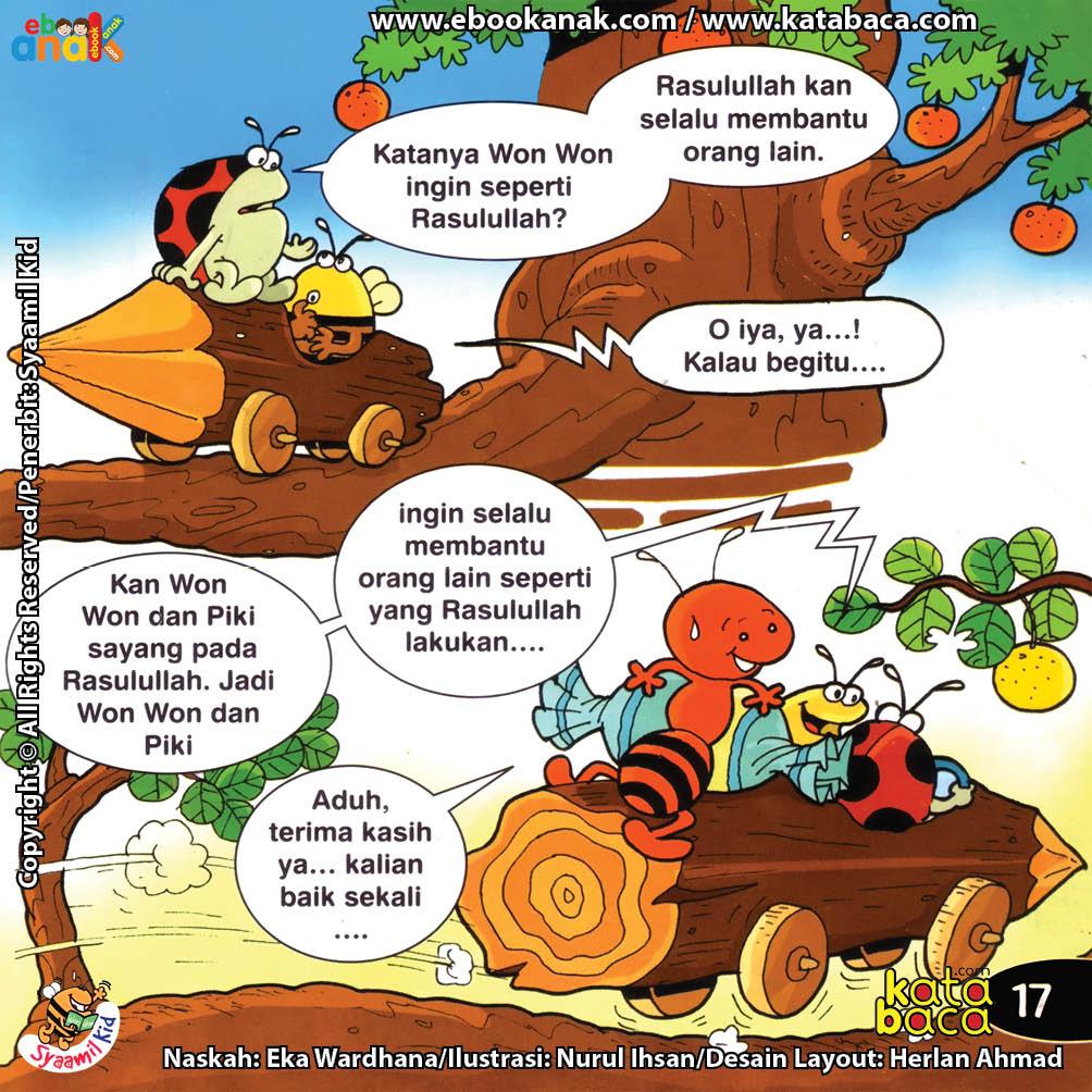 Download ebook Seri Balita Shalih, Menyayangi Rasulullah, Won Won Senang Menolong