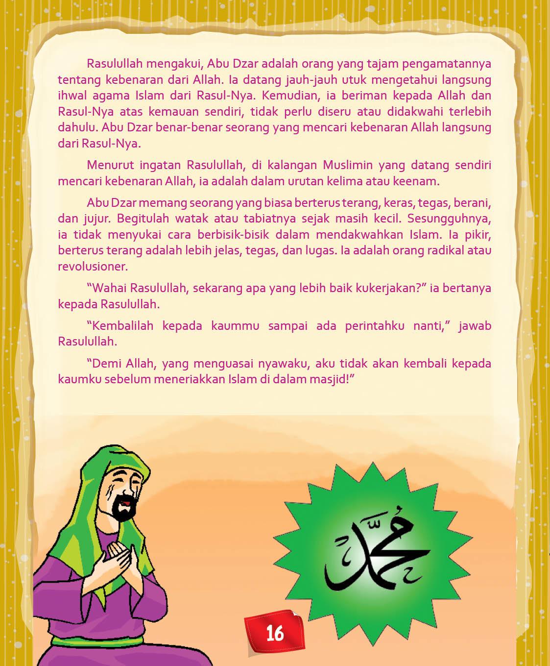 Download Ebook Abu Dzar Al Ghifari, Apa Tugas Pertama Rasulullah Untuk Abu Dzar
