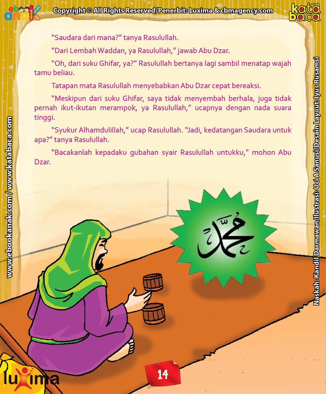 Download Ebook Abu Dzar Al Ghifari, Bagaimana Cara Abu Dzar Masuk Islam
