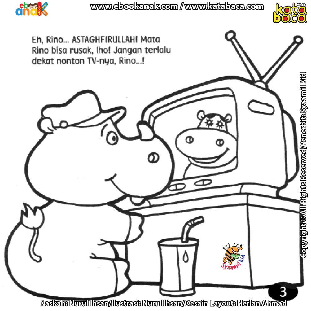 Mewarnai Gambar Televisi Untuk Anak Gambar Mewarnai