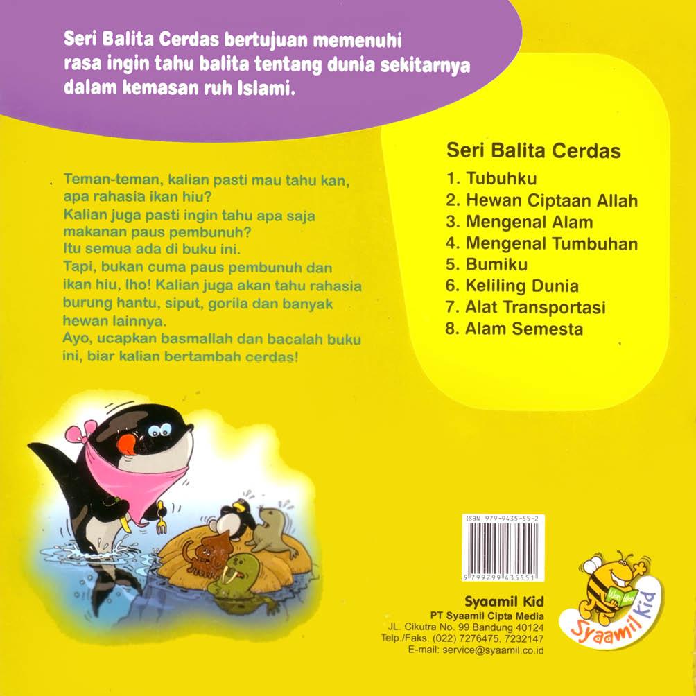 cover belakang download ebook anak seri balita cerdas hewan ciptaan allah