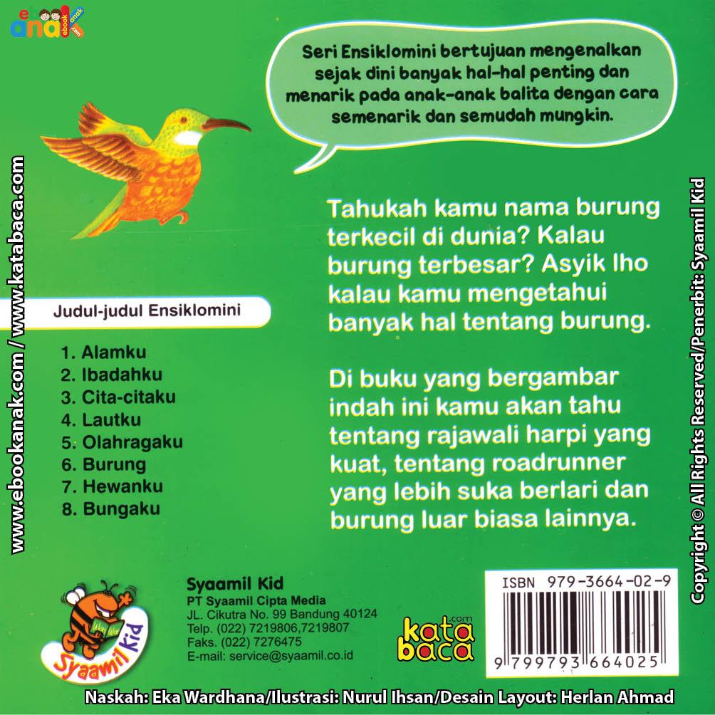 cover belakang download ebook seri ensiklomini burung