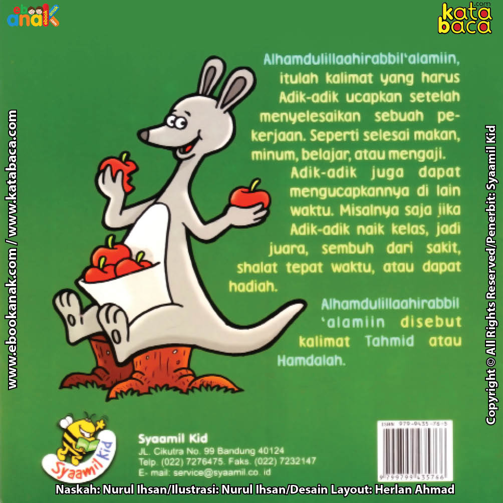 cover belakang ebook seri mewarnai cerita thayyibah hamdalah