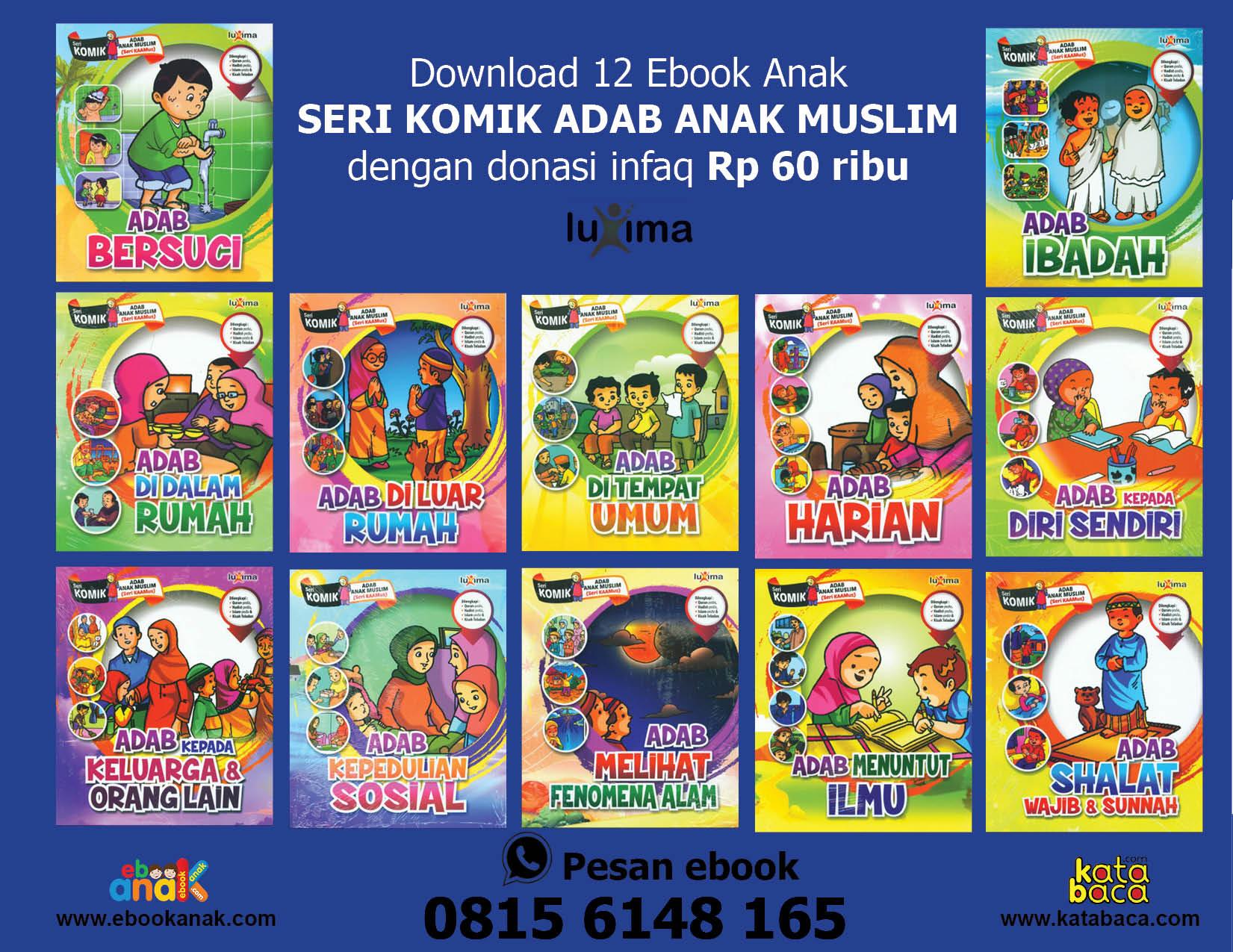 download 12 ebook anak seri komik adab anak muslim dengan donasi