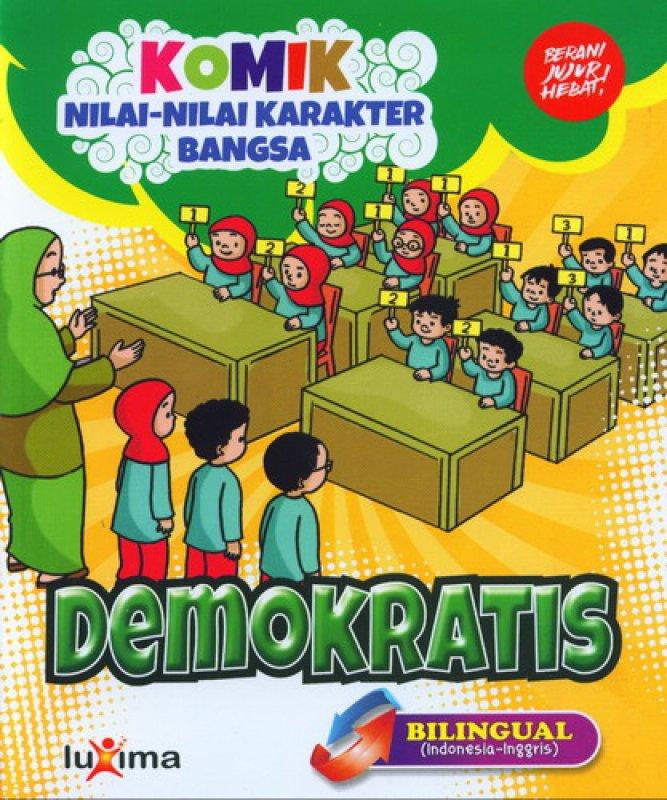 download ebook cover depan komik nilai nilai karakter bangsa demokratis