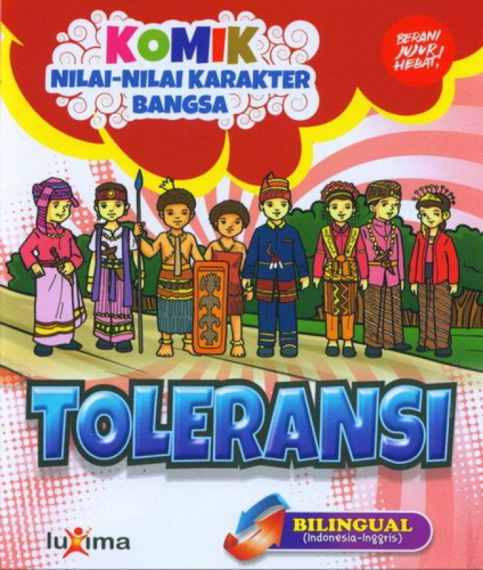 download ebook cover depan komik nilai nilai karakter bangsa toleransi