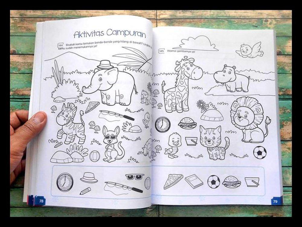 Buku ini memiliki 365 soal dan aktivitas yang sangat lengkap dengan materi belajar membaca, menulis, dan berhitung. (sumber foto istimewa)