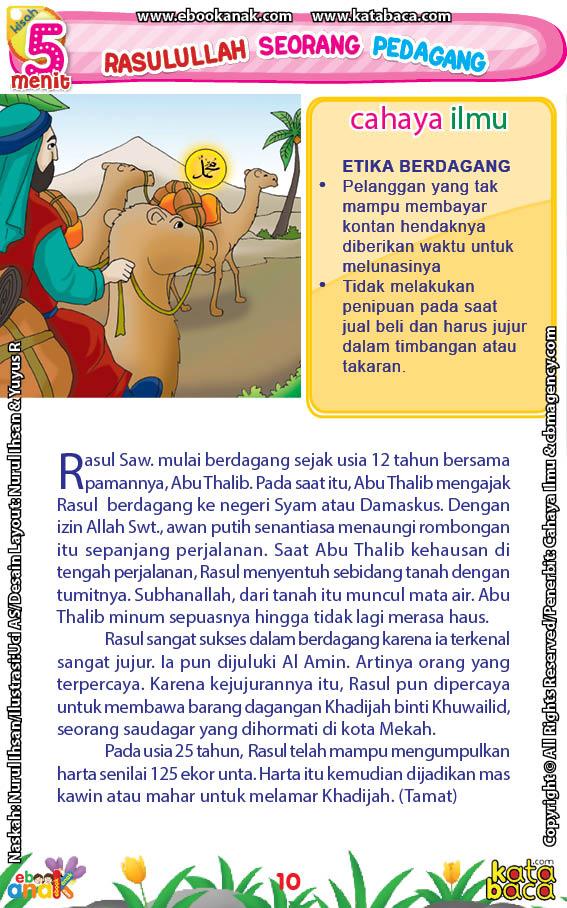 baca buku online 52 kisah Terbaik Nabi Muhammad penuh hikmah teladan12 Ternyata, Inilah Salah Satu Kunci Penting Kesuksesan Rasulullah Saw Saat Berdagang