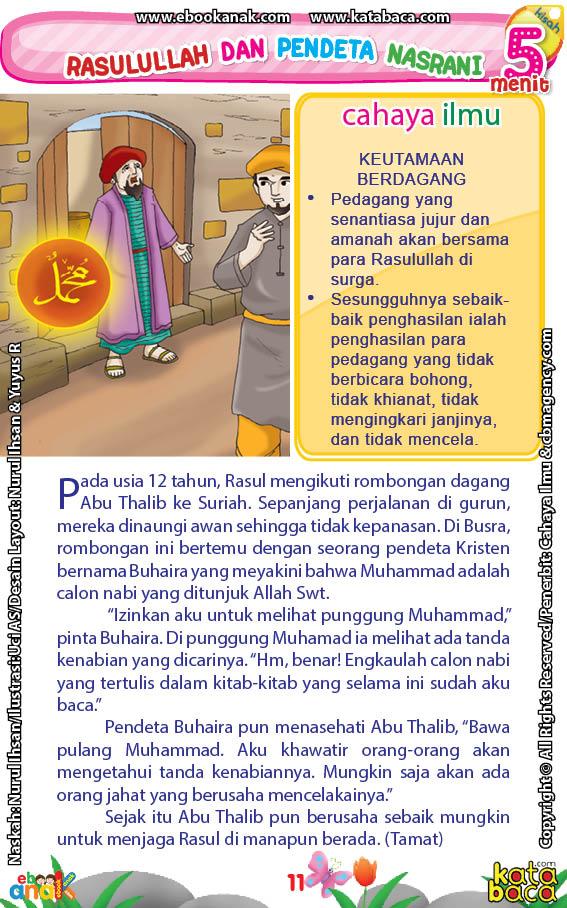 baca buku online 52 kisah Terbaik Nabi Muhammad penuh hikmah teladan13 Kenapa Pendeta Buhaira Bersikeras Ingin Melihat Punggung Nabi Muhammad Saat Kecil