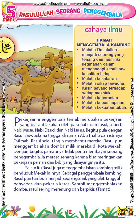 baca buku online 52 kisah Terbaik Nabi Muhammad penuh hikmah teladan14 Ternyata, Para Nabi dan Rasul Pernah Jadi Penggembala Ternak, Termasuk Rasulullah Saw
