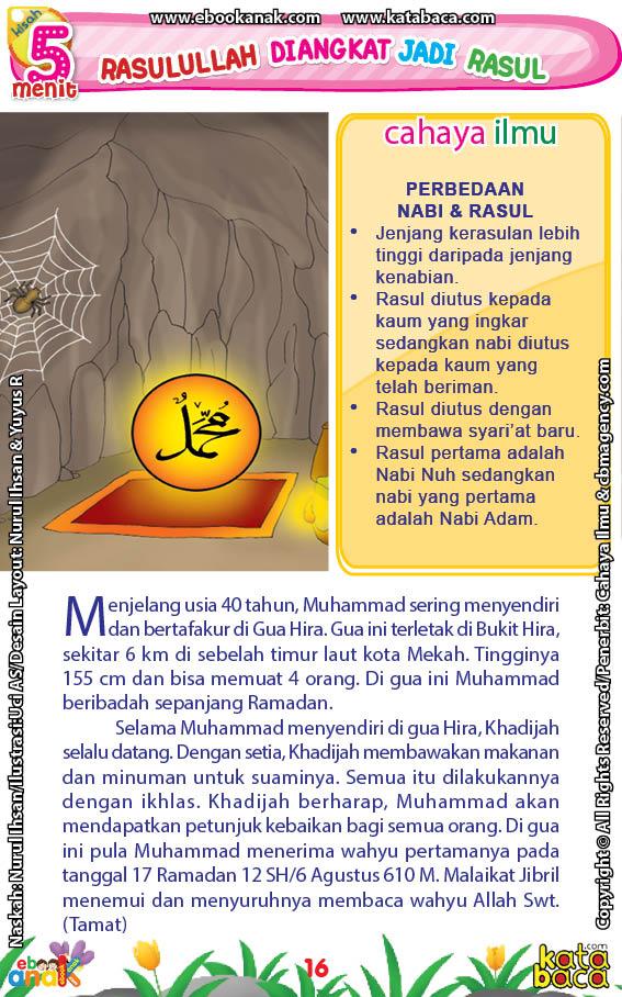 baca buku online 52 kisah Terbaik Nabi Muhammad penuh hikmah teladan18 Kenapa Nabi Muhammad Suka Menyendiri di Gua Hira