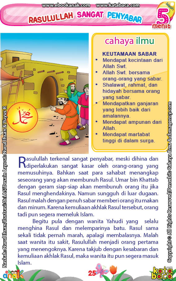 baca buku online 52 kisah Terbaik Nabi Muhammad penuh hikmah teladan27 Bagaimana Balasan Rasulullah Saw Ketika Dilempari Batu oleh Wanita Yahudi