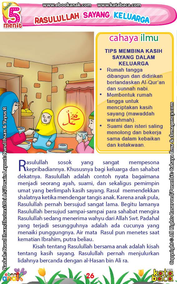 baca buku online 52 kisah Terbaik Nabi Muhammad penuh hikmah teladan28 Bagaimana Sikap Rasulullah Saw Ketika Sujud Diduduki Cucunya