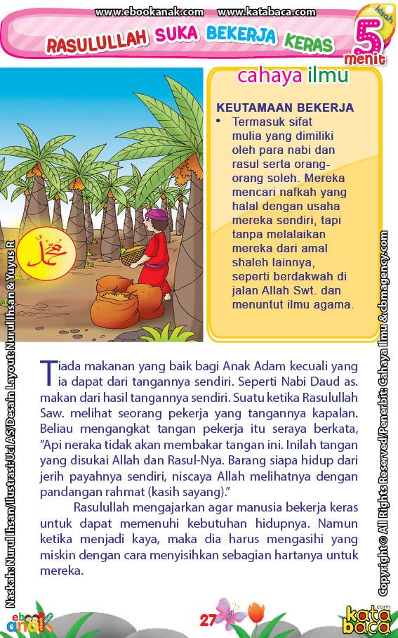 baca buku online 52 kisah Terbaik Nabi Muhammad penuh hikmah teladan29 Kenapa Rasulullah Saw Mengagumi Orang yang Tangannya Kapalan