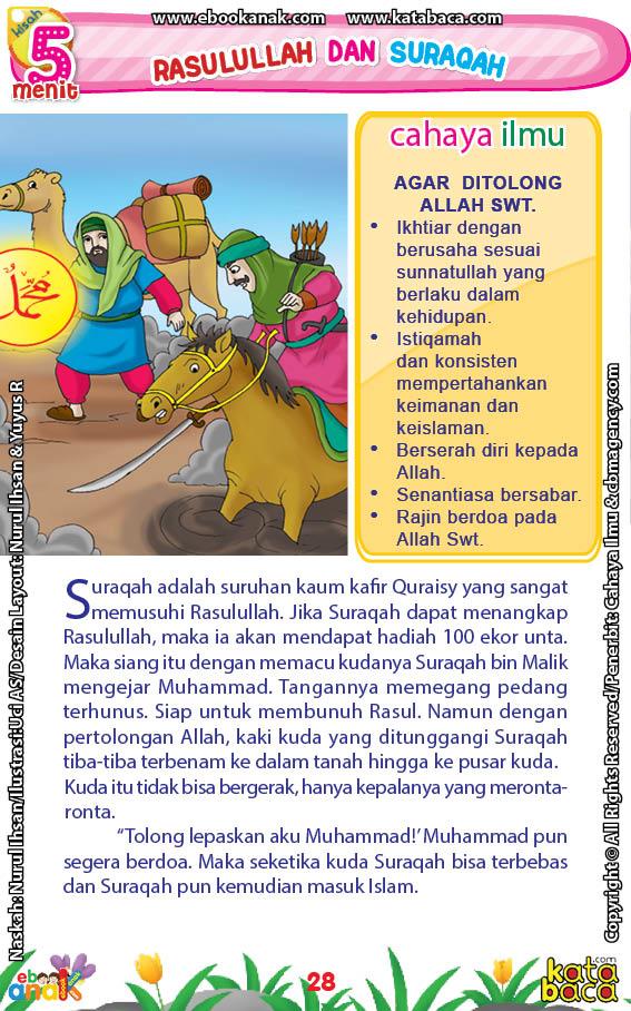 baca buku online 52 kisah Terbaik Nabi Muhammad penuh hikmah teladan30 Bagaimana Sikap Rasulullah Saw Ketika Melihat Kaki Kuda Suraqah Terbenam ke dalam Tanah