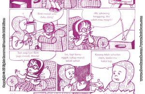 baca buku online komik ibadah centil centil cerdas, Akibat Binti Tidak Mandi Sore