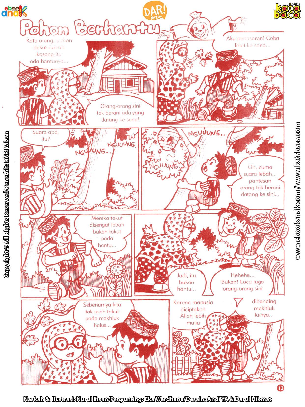 baca buku online komik ibadah centil centil cerdas Benarkah Ada Pohon Berhantu