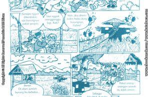baca buku online komik ibadah centil centil cerdas, Cara Mengusir Burung di Sawah