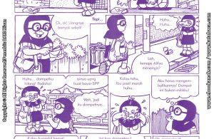 baca buku online komik ibadah centil centil cerdas, Menemukan Dompet di Jalan