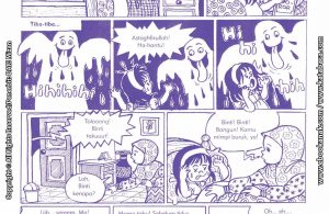 baca buku online komik ibadah centil centil cerdas didatangi hantu air