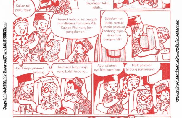 baca buku online komik ibadah centil centil cerdas naik pesawat terbang