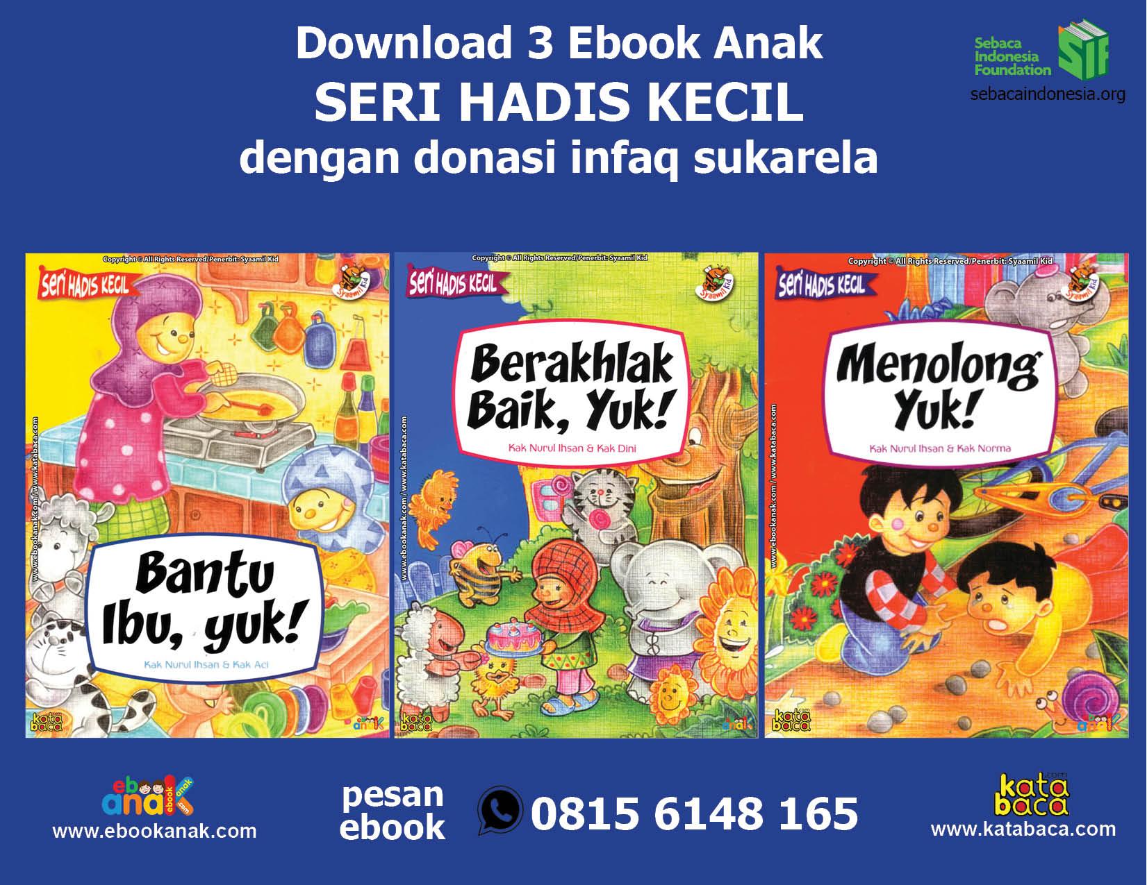 download tiga ebook seri hadis kecil dengan donasi infak sukarela