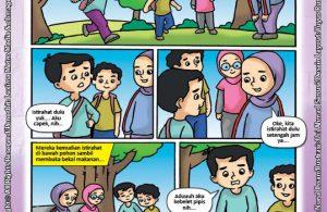 ebook seri komik adab anak muslim adab bersuci, Alif Pipis Sembarangan (1)