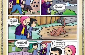 ebook seri komik adab anak muslim adab bersuci, Masak Alif Kalah Sama Kerbau (2)