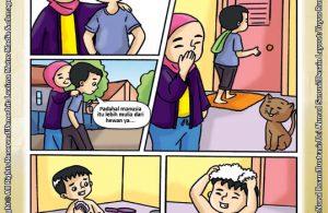ebook seri komik adab anak muslim adab bersuci, Masak Alif Kalah Sama Kerbau (3)
