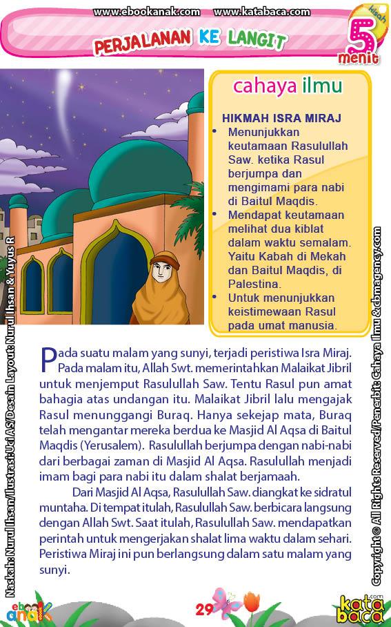 baca buku online 52 kisah Terbaik Nabi Muhammad penuh hikmah teladan31 Apakah Nama Tempat Pertemuan Antara Allah Swt dengan Rasulullah Saw