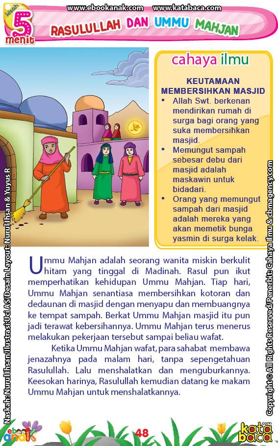 baca buku online 52 kisah Terbaik Nabi Muhammad penuh hikmah teladan50 Apa Keistimewaan Ummu Mahjan Sehingga Diperhatikan Rasulullah