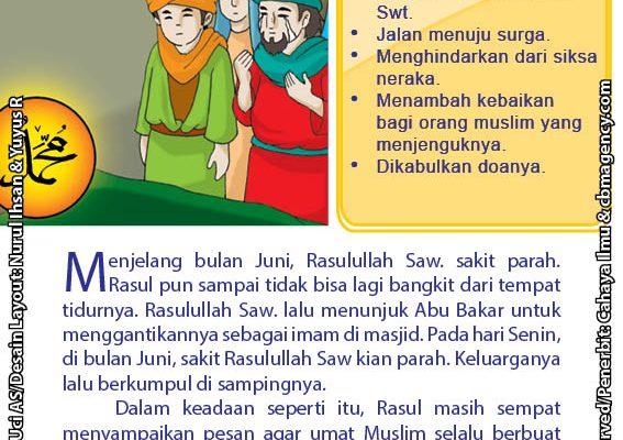baca buku online 52 kisah Terbaik Nabi Muhammad penuh hikmah teladan54 Apa Pesan Terakhir yang Disampaikan Rasulullah Saw Sebelum Wafat
