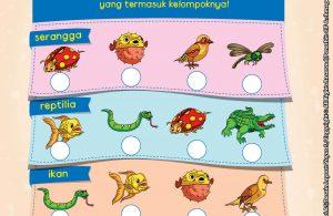 baca buku online brain games fun sains15 Mengenal Kelompok Hewan Serangga, Reptilia, Ikan dan Burung