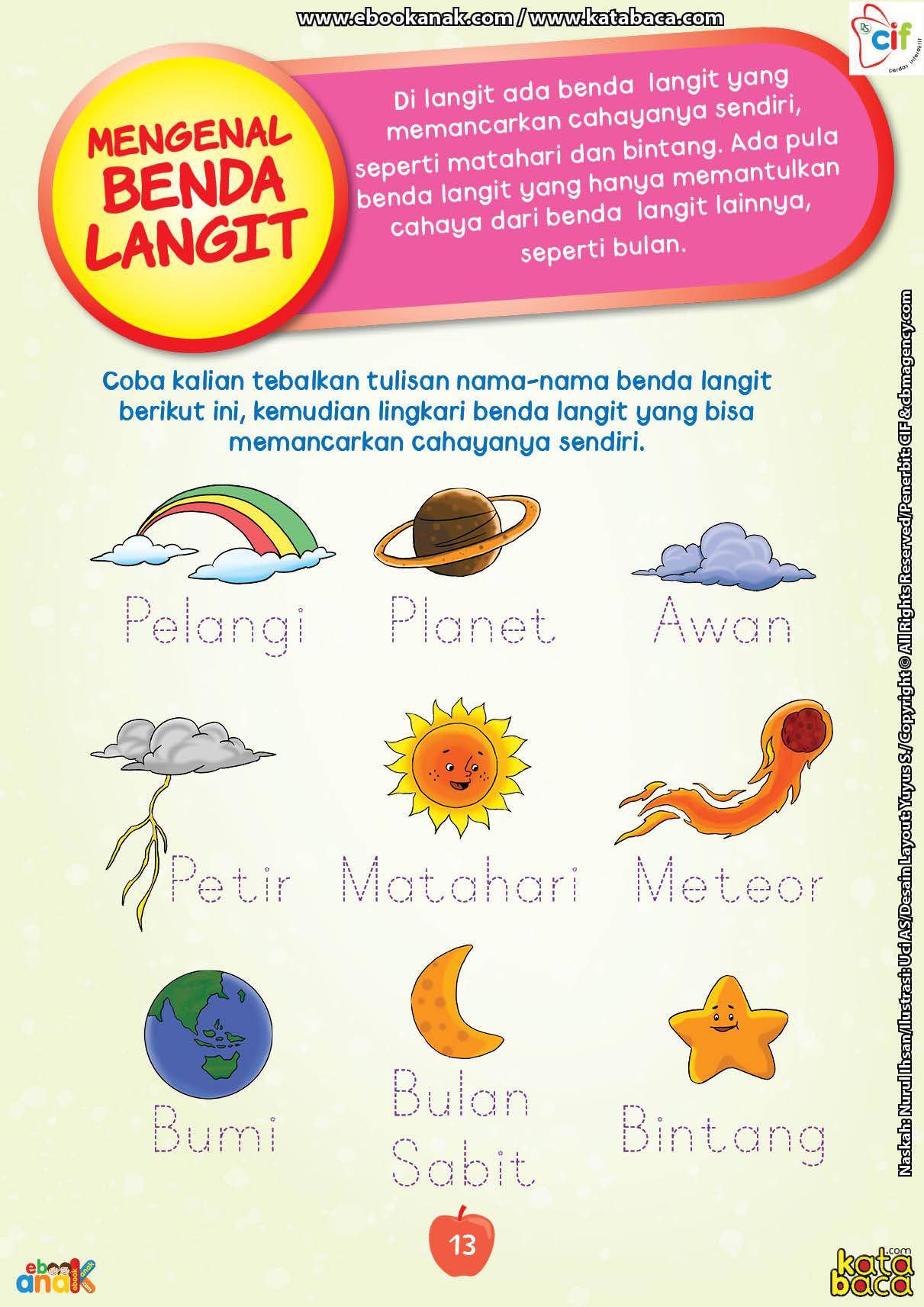 baca buku online brain games fun sains21 Mengenal Nama-Nama Benda Langit