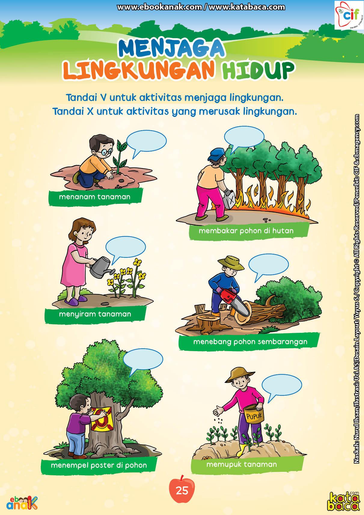baca buku online brain games fun sains33 Contoh Aktivitas yang Menjaga dan Merusak Kelestarian Lingkungan