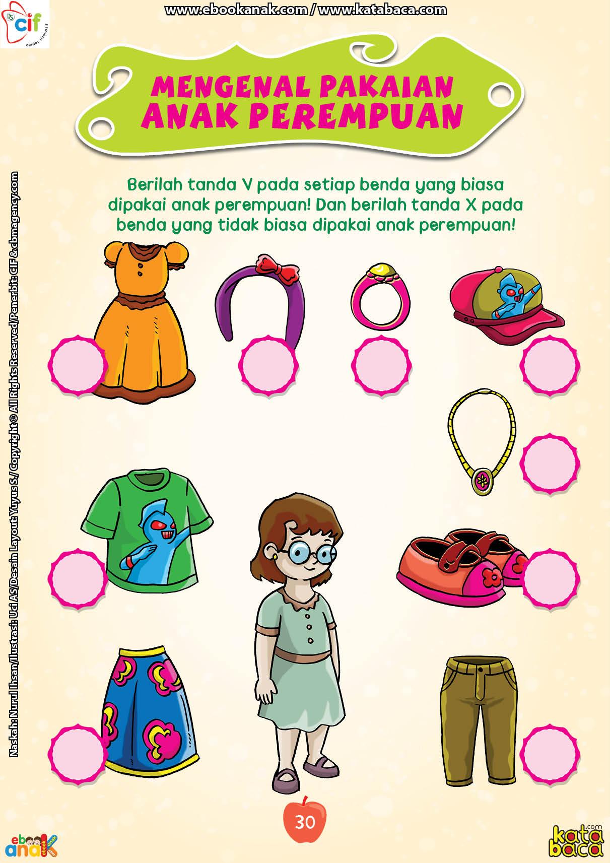 baca buku online brain games fun sains38 Mengenal Pakaian Anak Perempuan