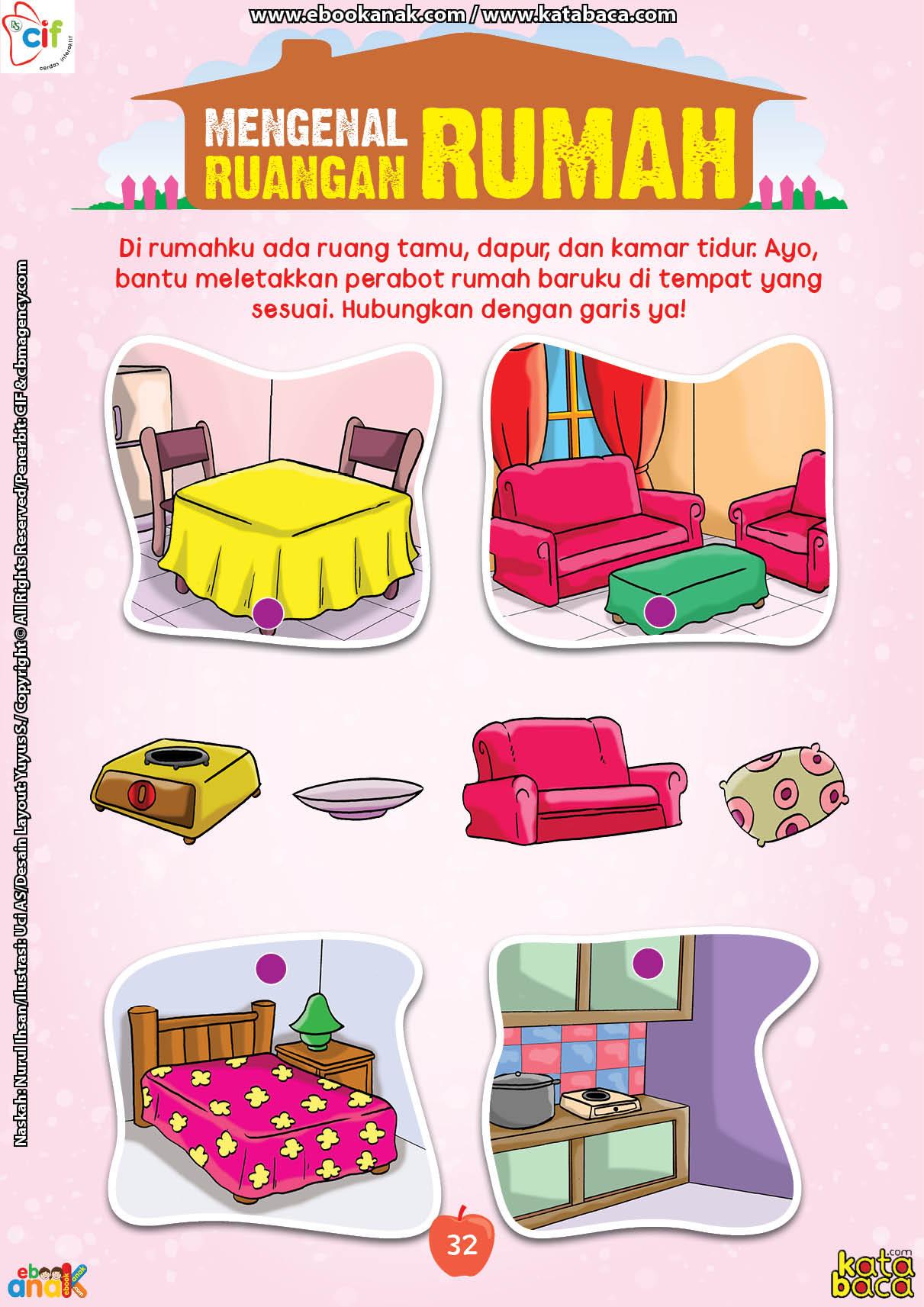 baca buku online brain games fun sains40 Mengenal Ruangan Rumah
