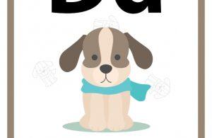 34 Worksheets Pintar Belajar Alfabet Dd Dog