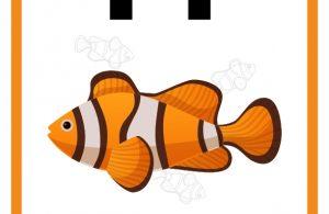 34 Worksheets Pintar Belajar Alfabet Ff Fish