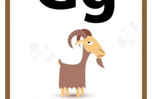34 Worksheets Pintar Belajar Alfabet Gg Goat