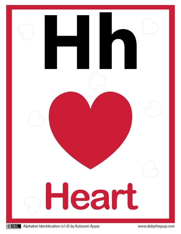 34 Worksheets Pintar Belajar Alfabet Hh Heart