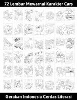 72 lembar mewarnai karakter cars