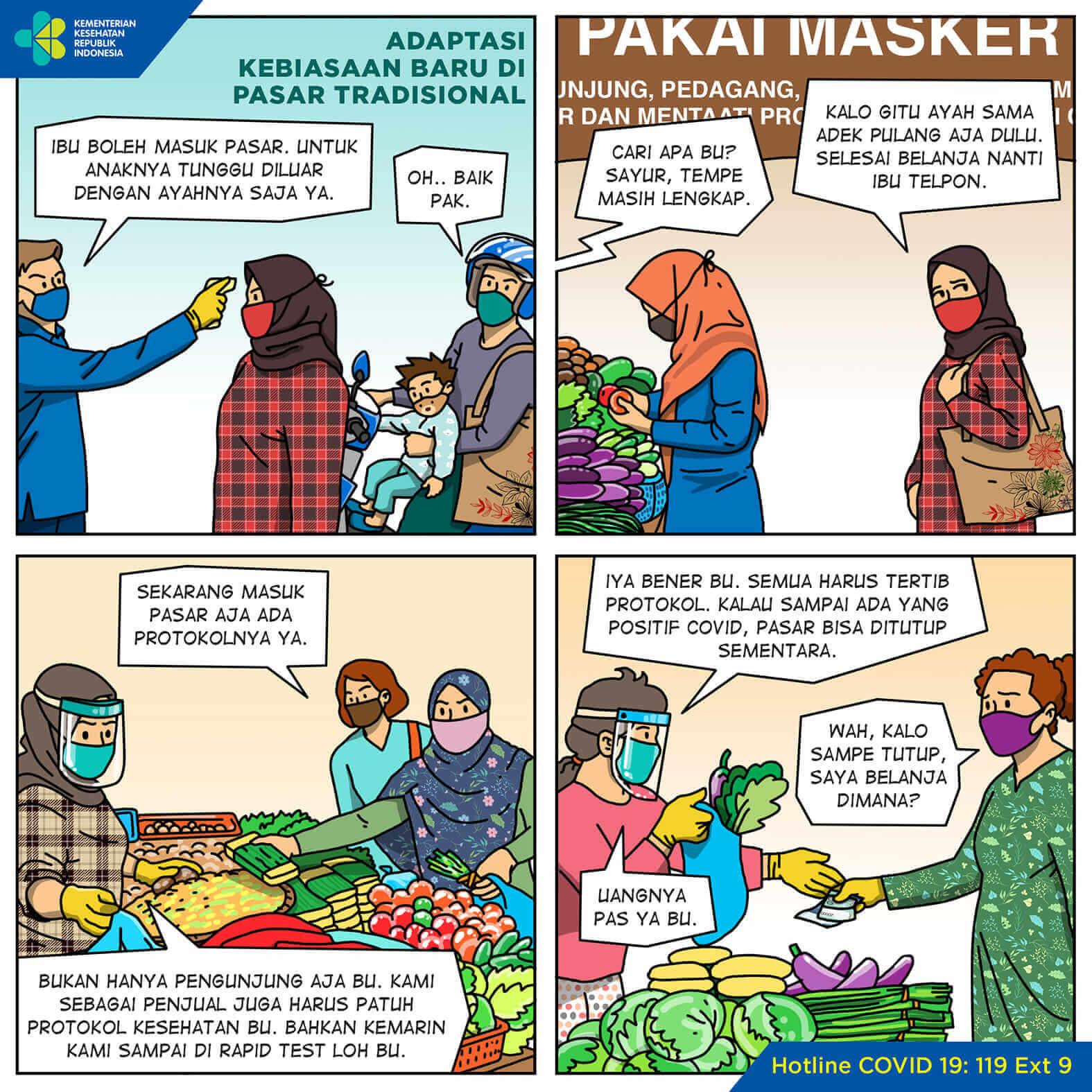 Adaptasi Kebiasaan Baru di Pasar Tradisional