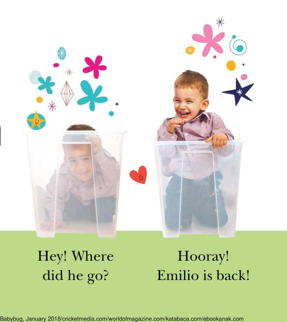 Anak Bersembunyi ke dalam Kotak