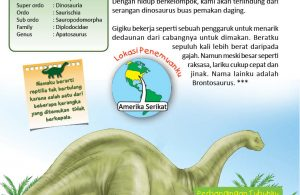 Apatosaurus, Reptil Purba Tak Bertulang