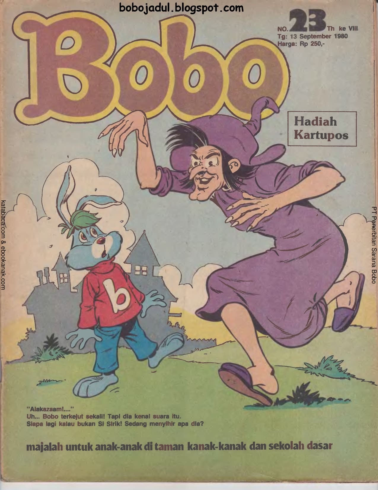Baca Online Majalah Bobo Jadul, 13 September 1980_001