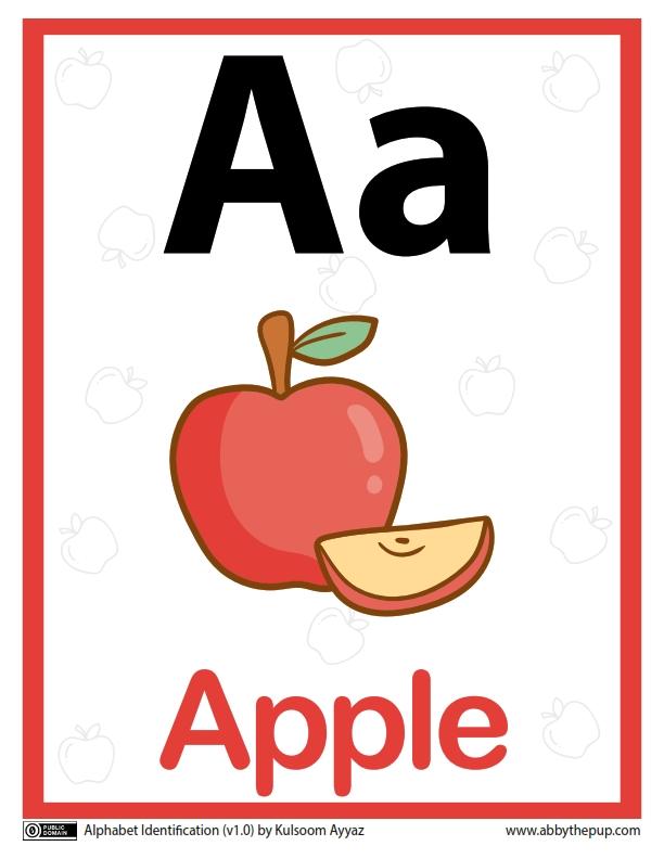 Belajar Mengenal Alfabet Aa Apple