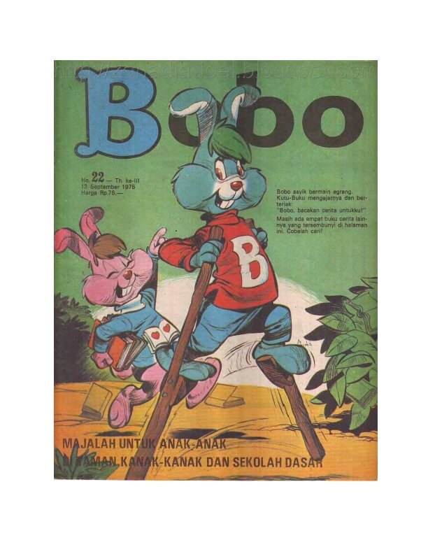 Majalah Bobo Digital: No. 22 Tanggal 19 September 1975