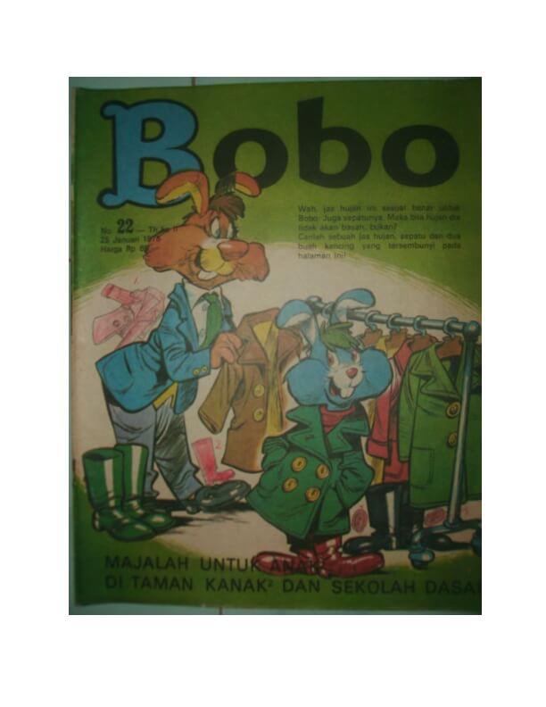 Majalah Bobo Digital: No 22 Tanggal 25 Januari 1975